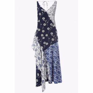 Derek Lam 10 Crosby Asymmetrical Patchwork Dress